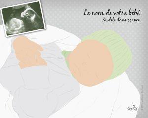 Illustration mon bébé échographie